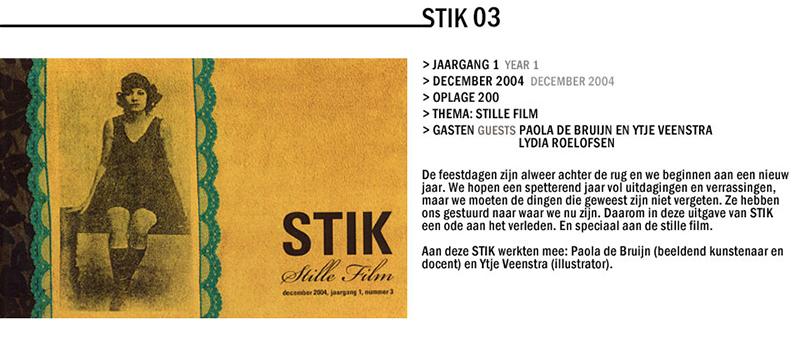 Beeldbundel no.03, uitgegeven door STIKmagazine