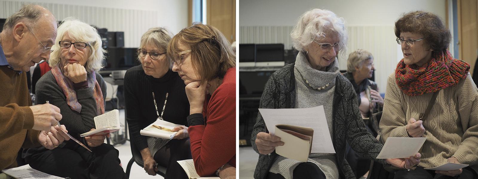 CollegeFilosofie en Kunst– Kunstbedrijf Arnhem, Zorg en Welzijn –Kunstcafé College 2 – 10 november2016 – Deelnemers maken kennis metde begrippenwaarnemen en beleving. Deze vaardigheden stellen hen in staat om, tijdens het tweede collegeVTS-les-is-meer,te werken met de methode Visual Thinking Strategies.