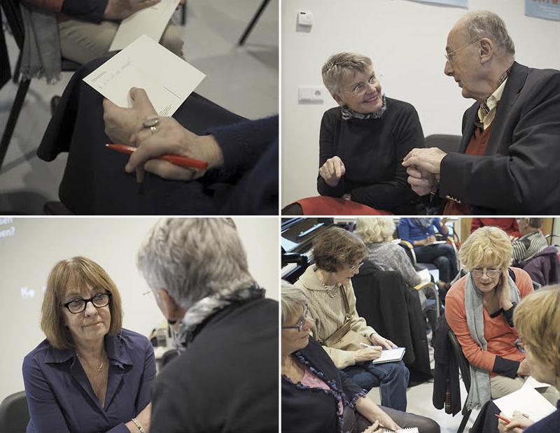 CollegeFilosofie en Kunst– Kunstbedrijf Arnhem, Zorg en Welzijn –Kunstcafé College 3 – 15 december2016 – Deelnemers maken kennis met de begrippenwaarnemen en beleving. Deze vaardigheden stellen hen in staat om, tijdens het derdecollegeVTS-les-best,te werken met de methode Visual Thinking Strategies.