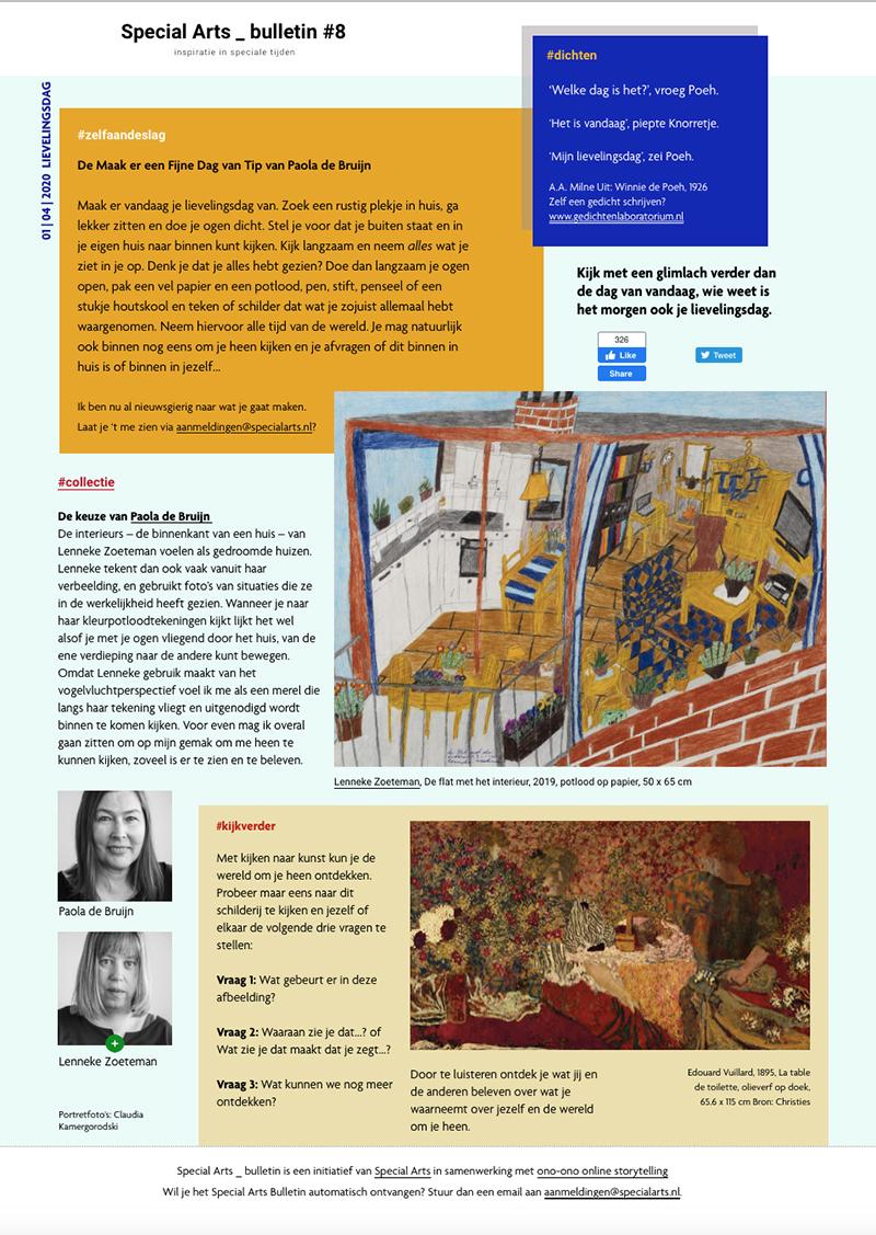 Special Arts Bulletin #8  –  klik op de afbeeldingen voor alle bulletins