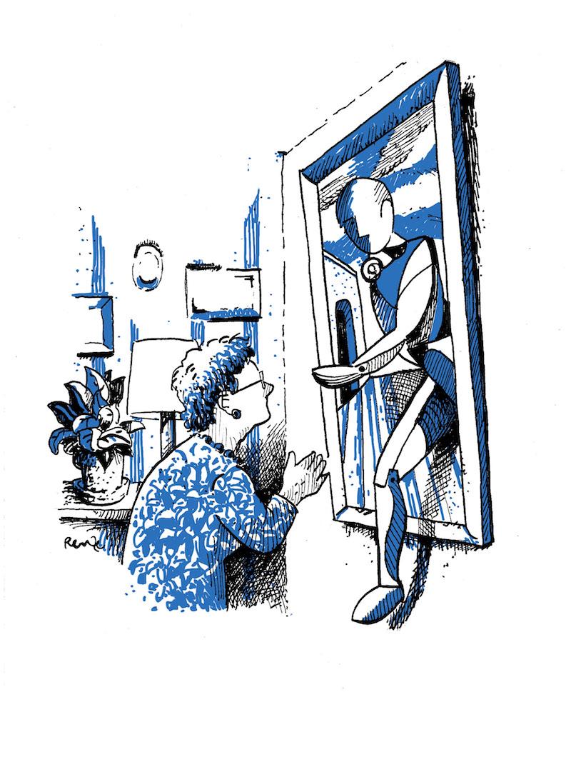 Begeleidende illustratie door Renze Koenes